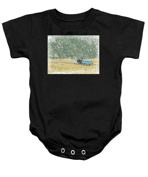 Cog Railroad Train. Baby Onesie