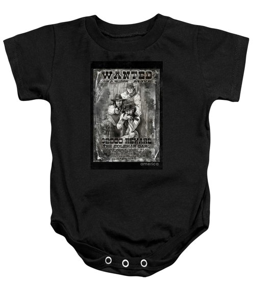 Coleman Gang Wanted Poster Baby Onesie