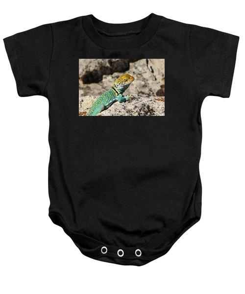 Collared Lizard Baby Onesie