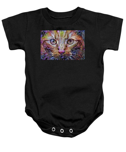 Colorful Cat Art Baby Onesie