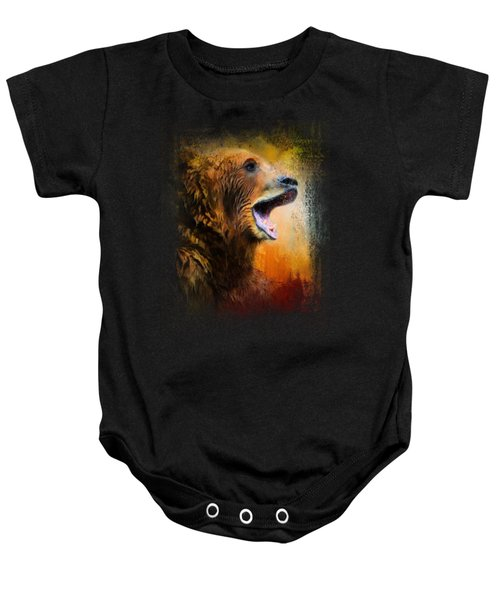 Colorful Expressions Grizzly Bear 2 Baby Onesie by Jai Johnson