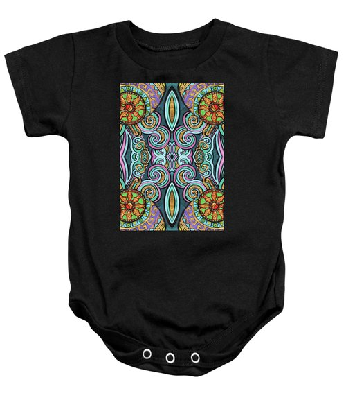 Colorful Psychedelic Baby Onesie