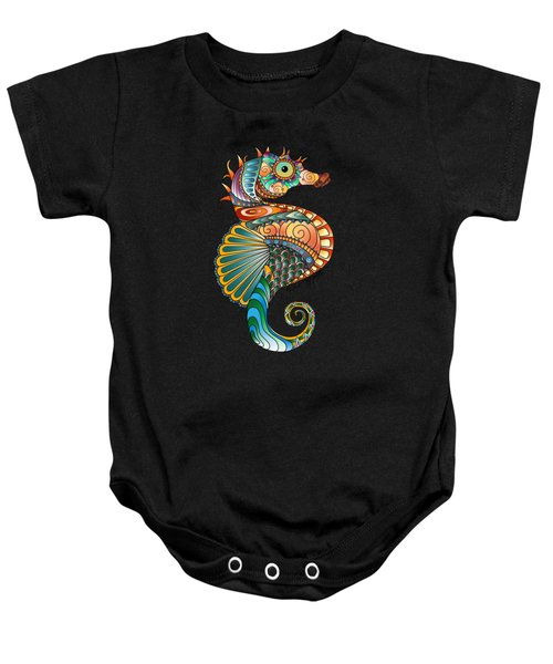 Colorful Seahorse Baby Onesie
