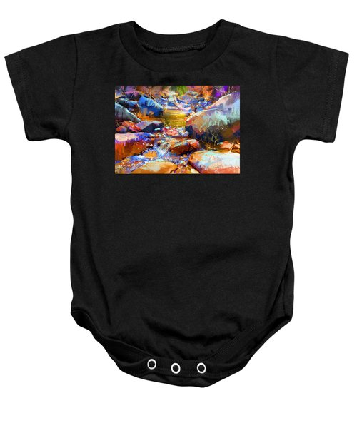 Baby Onesie featuring the painting Colorful Stones by Tithi Luadthong