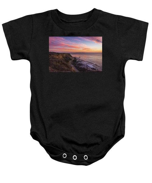 Colorful Sunset At Golden Cove Baby Onesie