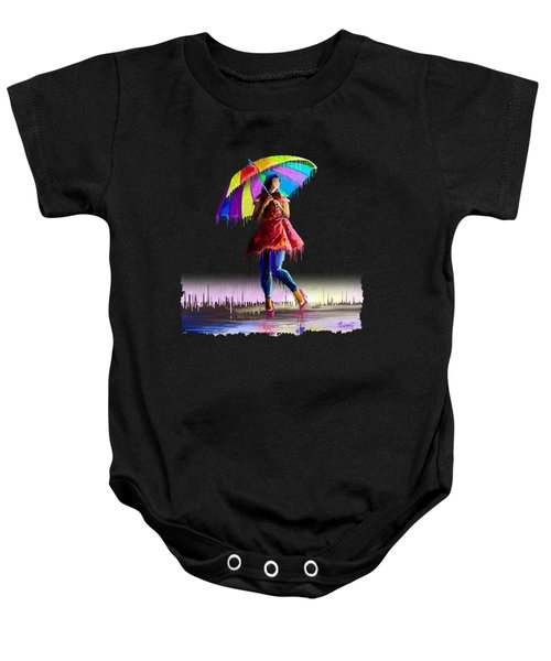 Colorful Umbrella Baby Onesie