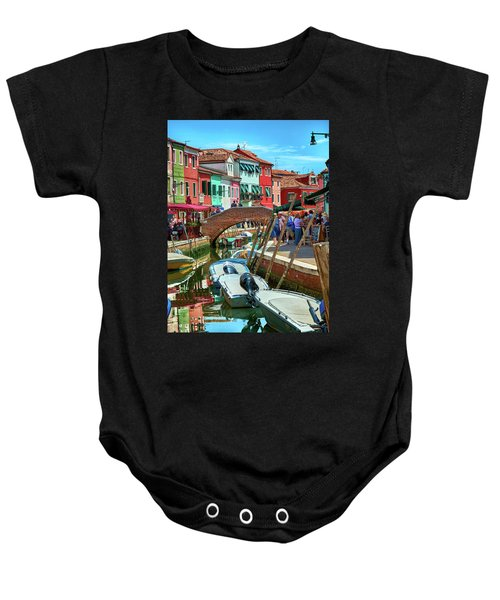 Colorful View In Burano Baby Onesie