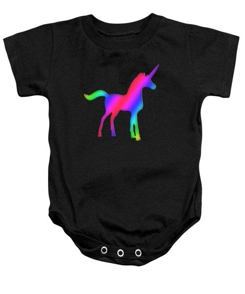 Colourful Unicorn  Baby Onesie