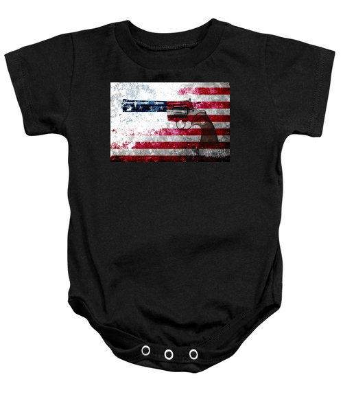 Colt Python 357 Mag On American Flag Baby Onesie