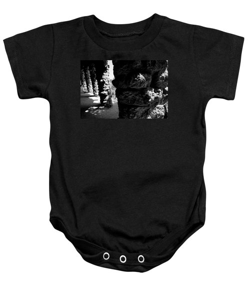 Columns Of The Park Guell Baby Onesie