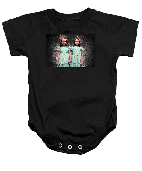 Come Play With Us - The Shining Twins Baby Onesie by Taylan Apukovska