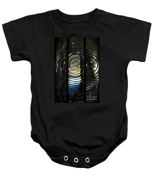 Concentric Glass Prisms - Water Color Baby Onesie