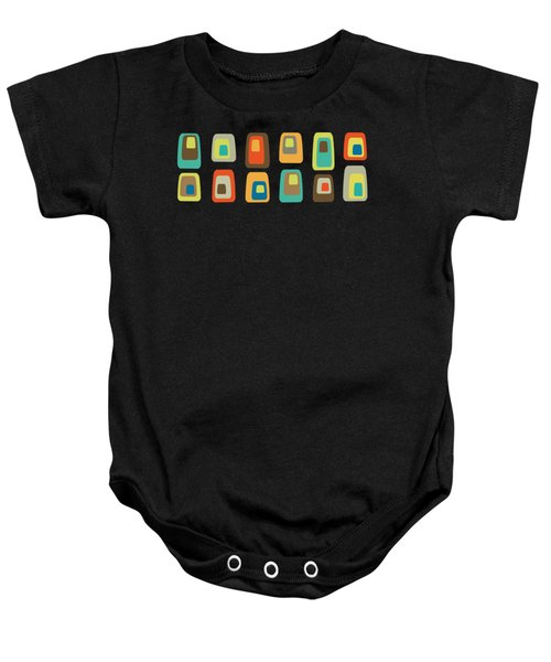 Concentric Oblongs Baby Onesie