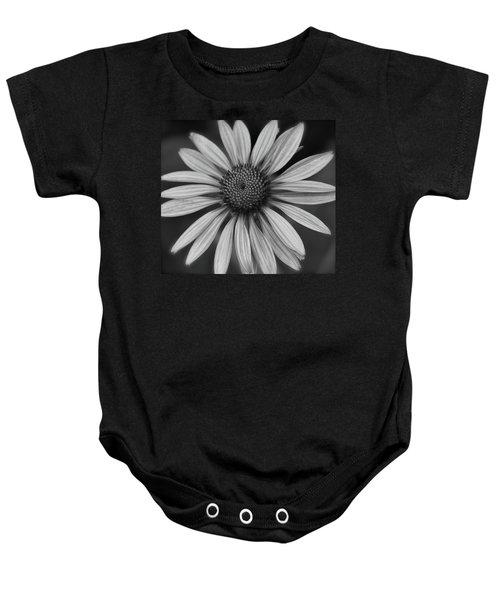 Coneflower In Black And White Baby Onesie