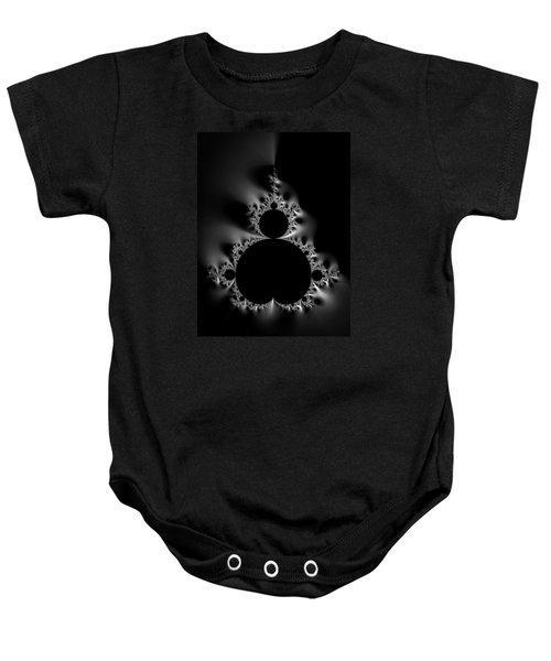 Cool Black And White Mandelbrot Set Baby Onesie by Matthias Hauser