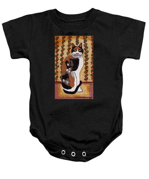 Cool Calico Cat Baby Onesie