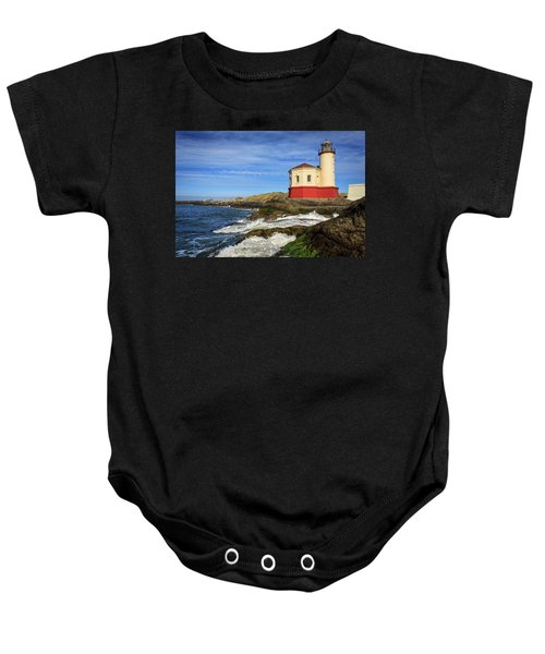 Coquille River Lighthouse At Bandon Baby Onesie