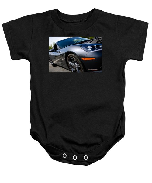 Baby Onesie featuring the photograph Corvette Racing by Shane Kelly