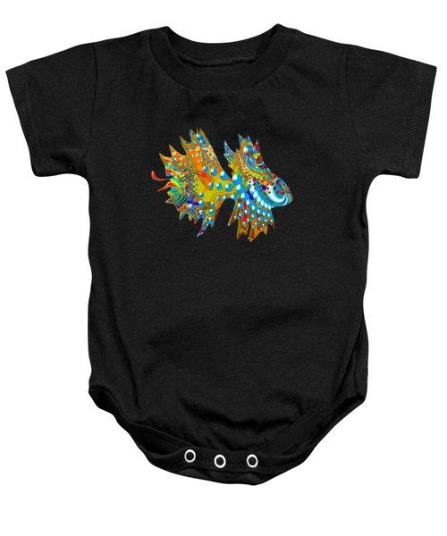 Cosmic Guppy Baby Onesie by Deborah Runham