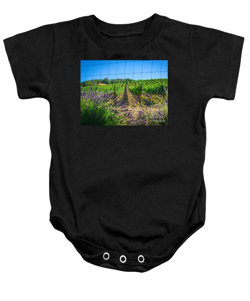 Country Lavender V Baby Onesie