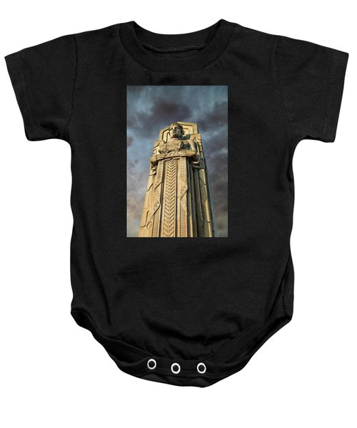 Covered Wagon Guardian On Hope Memorial Bridge Baby Onesie