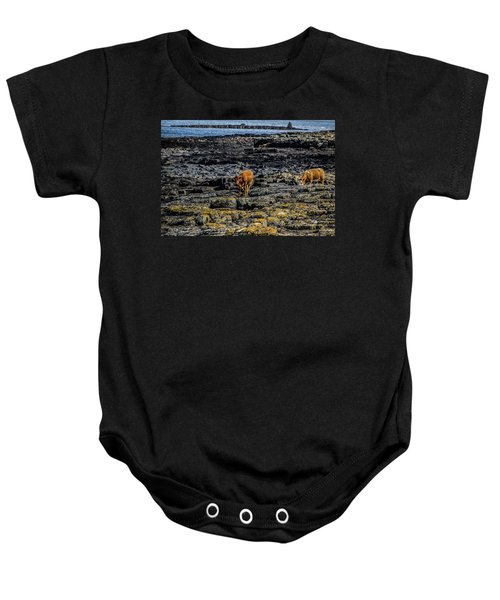 Cows On The Rocks Baby Onesie