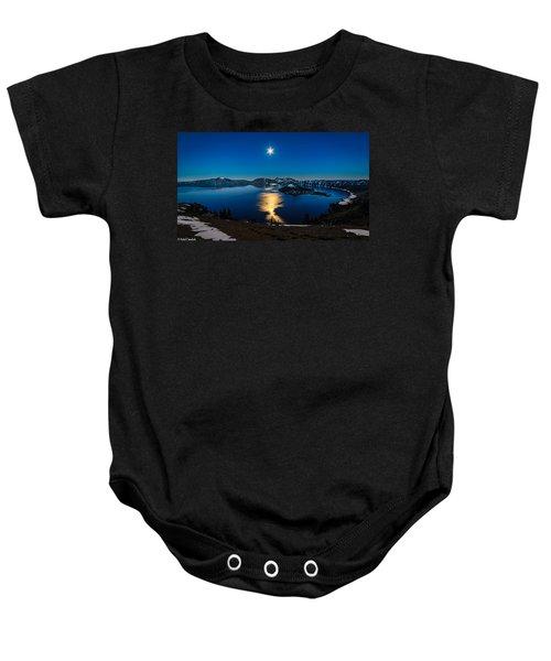 Crater Lake Moonlight Baby Onesie