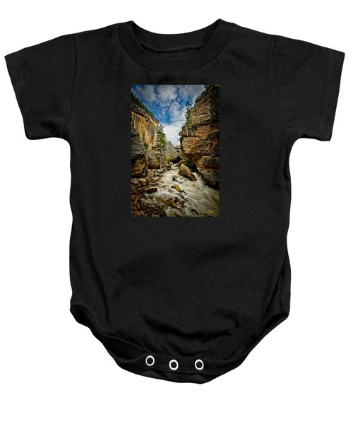 Crazy Woman Canyon Baby Onesie by Rikk Flohr