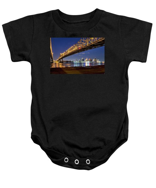 Crescent City Bridge, New Orleans Baby Onesie