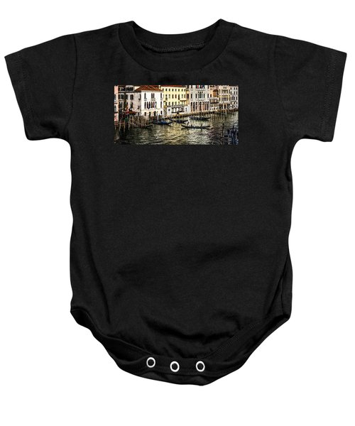 Crossing The Canal Baby Onesie