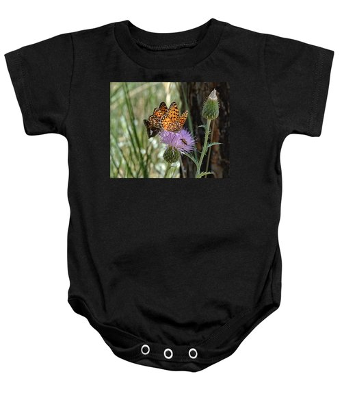 Crowded Thistle Baby Onesie