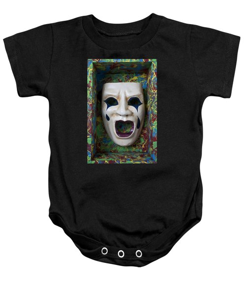 Crying Mask In Box Baby Onesie