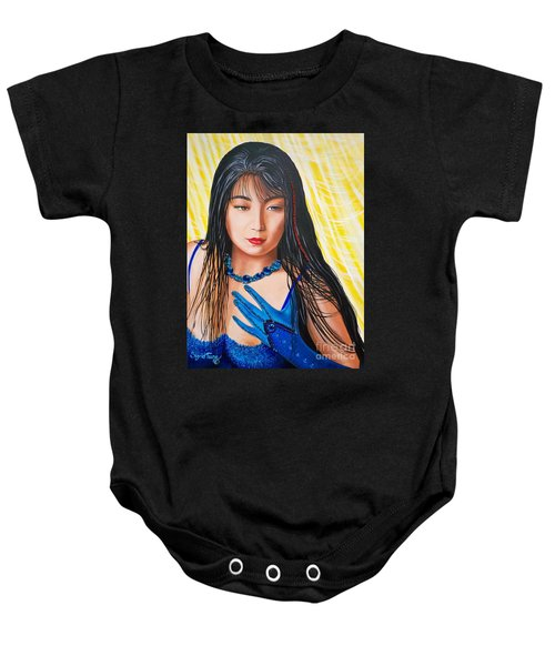 Crystal Blue China Girl            From   The Attitude Girls  Baby Onesie