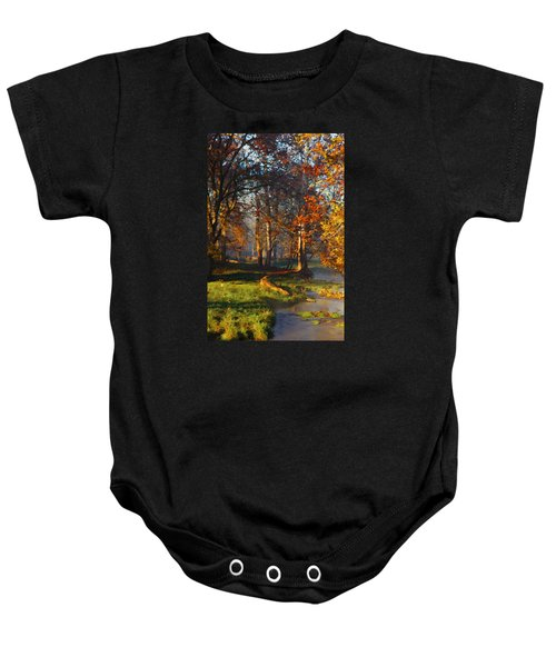 Curry Stream Fall Baby Onesie