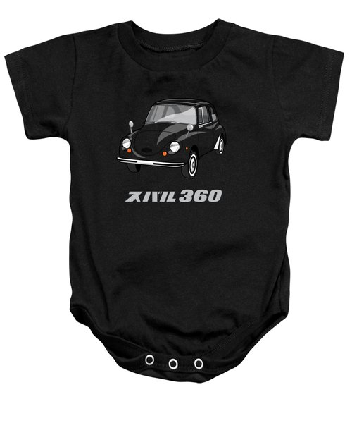 Custom Color Subaru 360 Baby Onesie