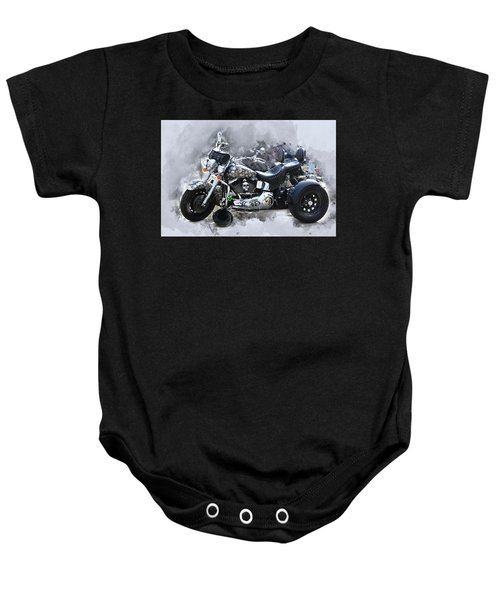 Customized Harley Davidson Baby Onesie