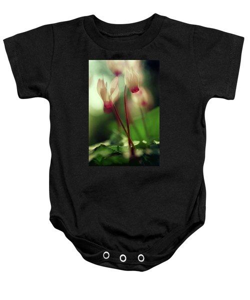 Cyclamens Baby Onesie