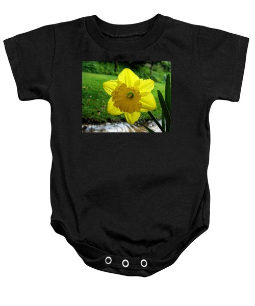 Daffodile In The Rain Baby Onesie