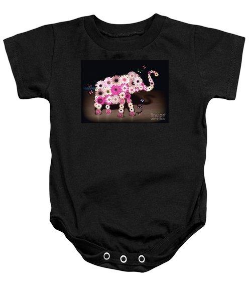 Daisy Elephant Baby Onesie