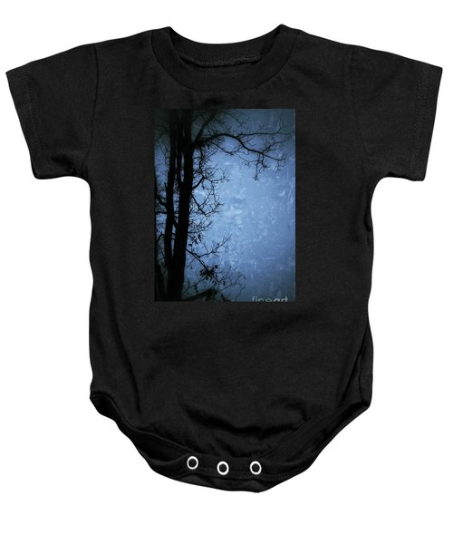 Dark Tree Silhouette  Baby Onesie