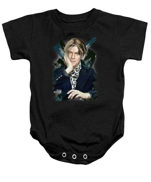 David Bowie Baby Onesie by Melanie D