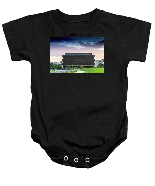 Dawn At The National Museum Of African American History And Culture.  No 1 Baby Onesie