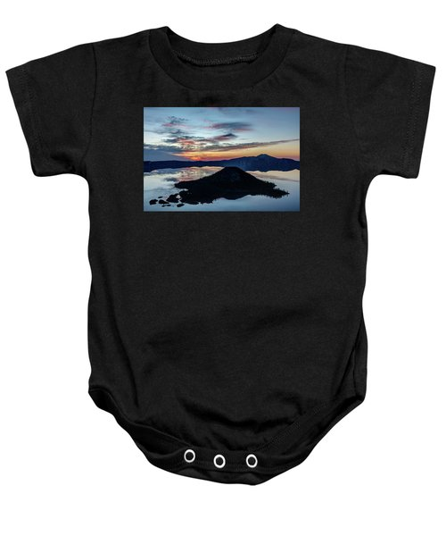 Dawn Inside The Crater Baby Onesie