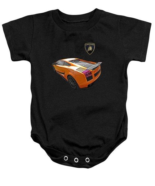 Dazzling Orange Lamborghini Baby Onesie