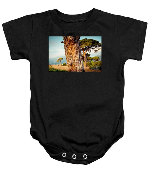 Dead Tree And Forest  Baby Onesie