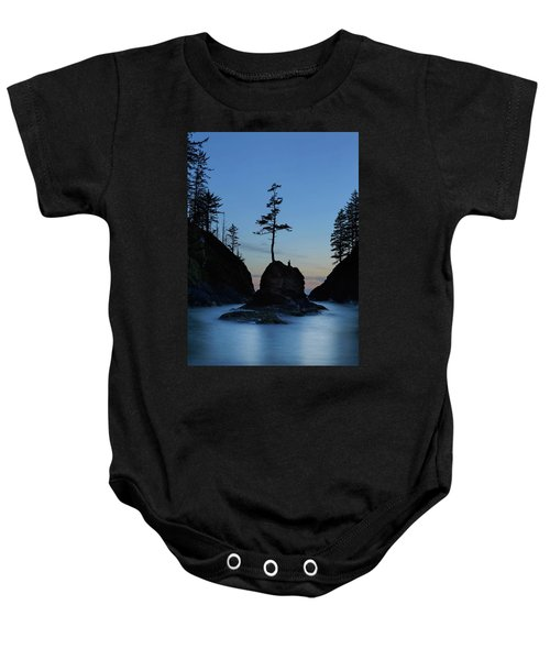 Deadman's Cove At Cape Disappointment At Twilight Baby Onesie