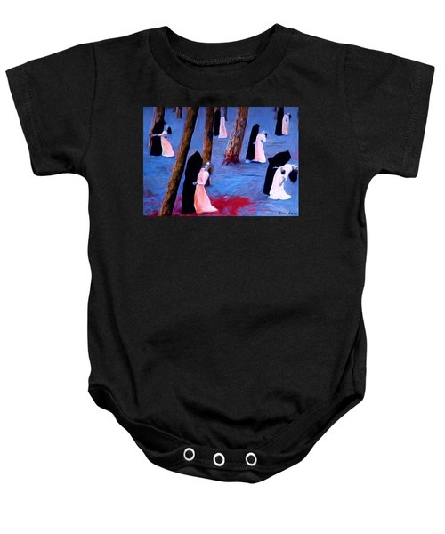 Death And The Maidens Baby Onesie
