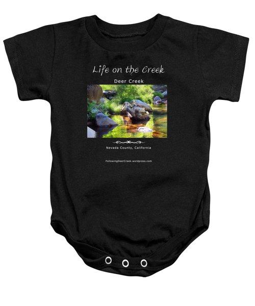 Deer Creek Ferns - White Text Baby Onesie