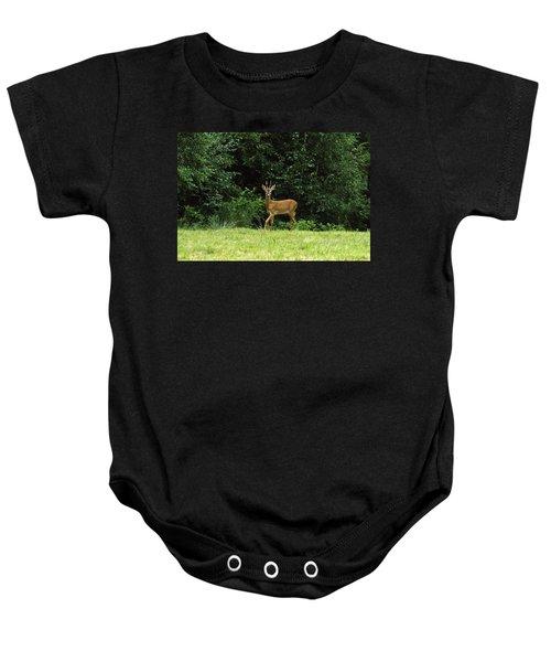 Deer In The Woods Baby Onesie