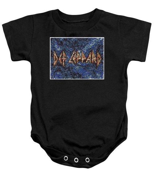 Def Leppard Albums Mosaic Baby Onesie
